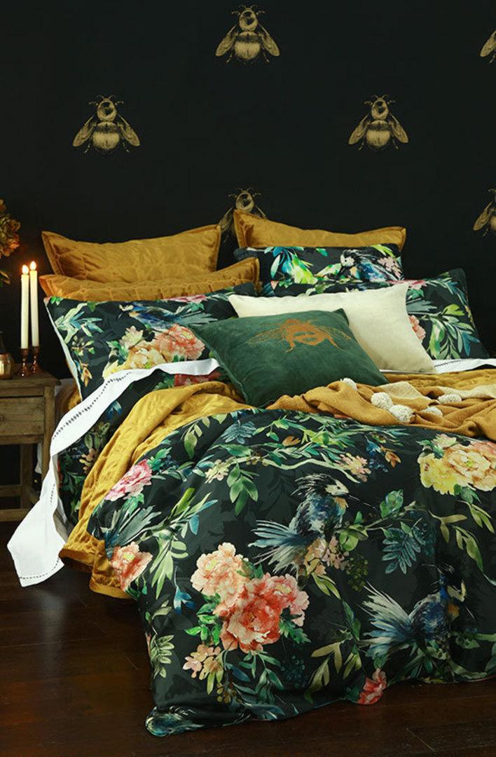 MM Linen - Meeka  Gold Quilted  Comforter Set  / Eurocase  Set image 0