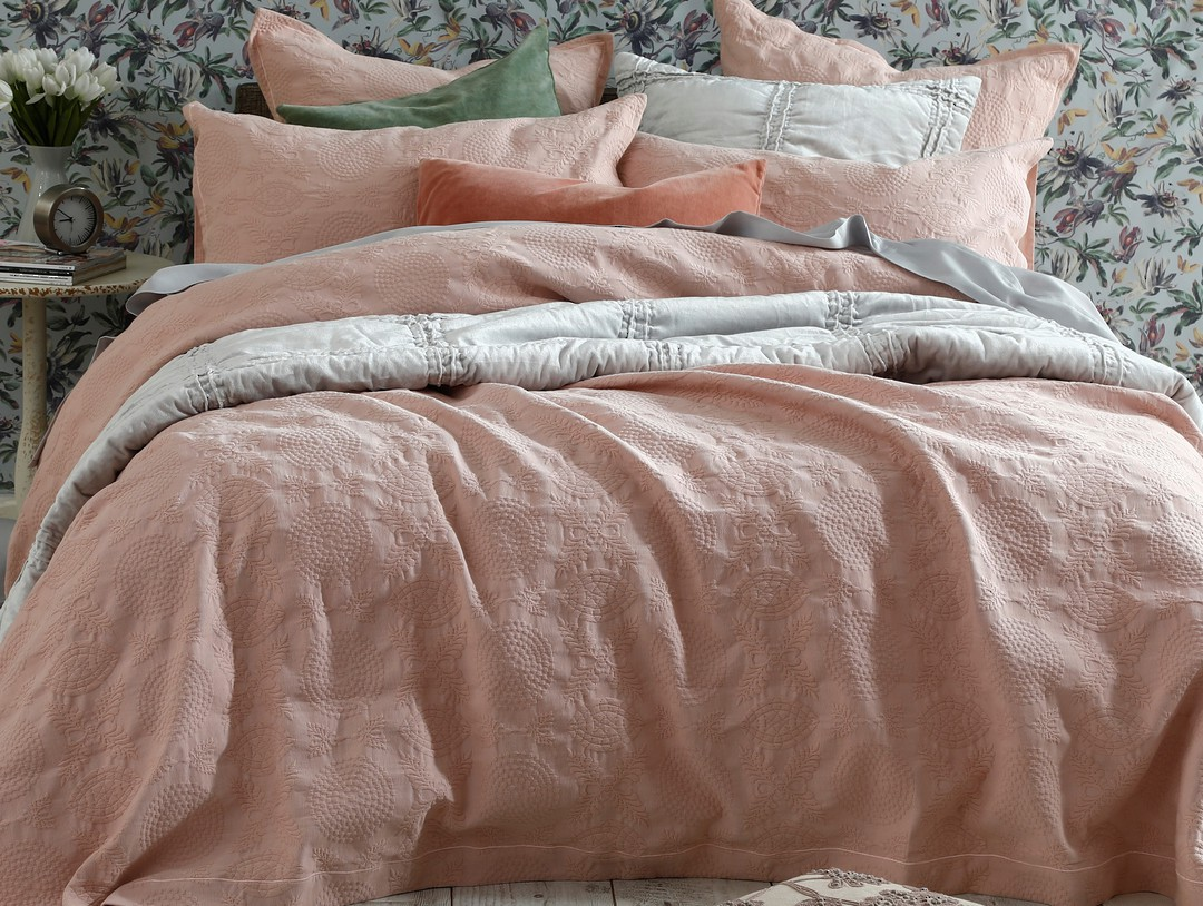 MM Linen - Aviana Bedpread Set - Rose image 0