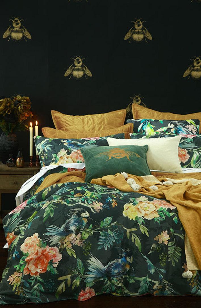 MM Linen - Meeka  Gold Quilted  Comforter Set  / Eurocase  Set image 1