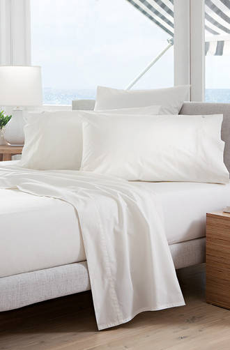 Sheridan Classic Percale Snow Sheet Sets/Pillowcases - Sold Separately