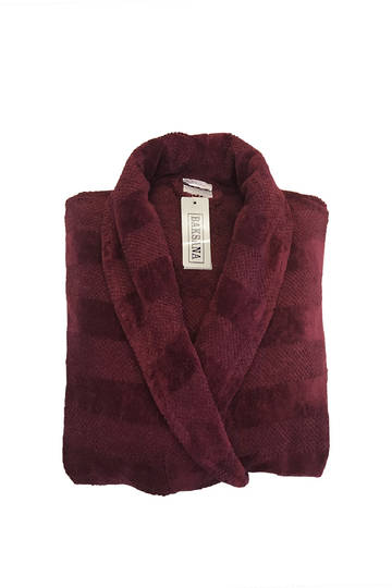 Baksana - Aiden Bathrobe - Port (Burgundy)