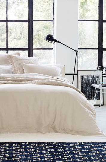 Sheridan Abbotson Flax Tailored Linen Duvet Cover / Pillowcases Sold  Separately