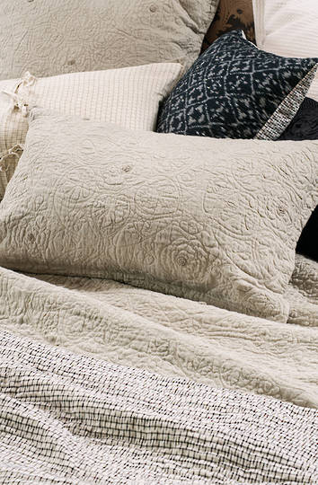 Bianca Lorenne - Amarento Pillowcase and Eurocase - Natural Linen