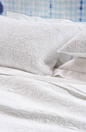 Bianca Lorenne Amarento  Bedspread / Pillowcases Sold Separately - White