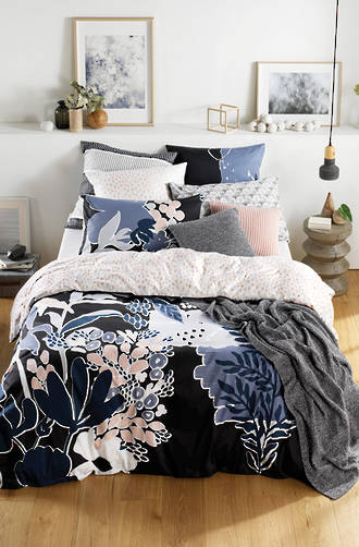 Sheridan Arbor Carbon Duvet Cover Set