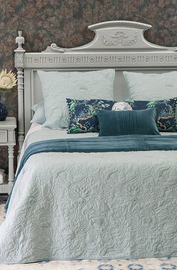 Bianca Lorenne Bacelli Powder Blue Bedspread / Pillowcases Sold Separately