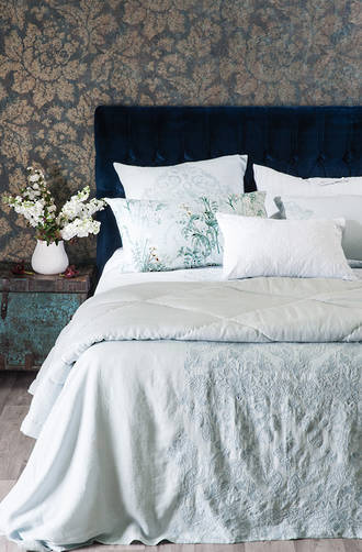 Bianca Lorenne Bijoux Pale Blue Euros and Pillowcases