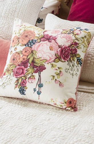 Bianca Lorenne Bouquet Ivory Cushion
