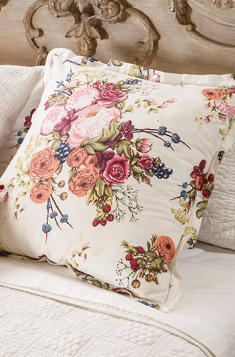 Bianca Lorenne - Bouquet Ivory Comforter/Pillowcases and Cushion Sold Separately