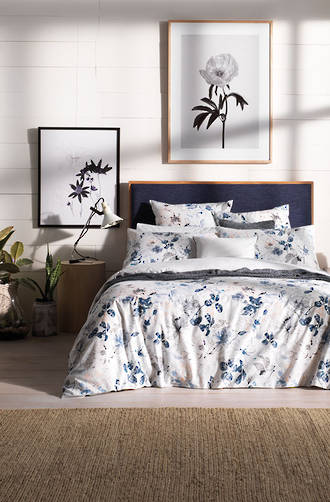 Sheridan Bowerie Washed Indigo Duvet Cover Set