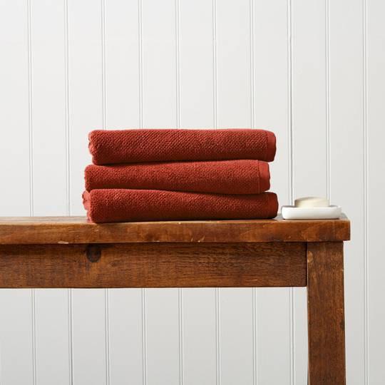 Seneca - Christy Brixton Towels, Hand Towels, Bath Mats -  Cinnabar