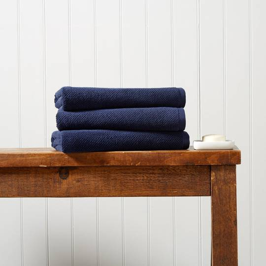 Christy Brixton Towels, Hand Towels & Bath Mats - Midnight