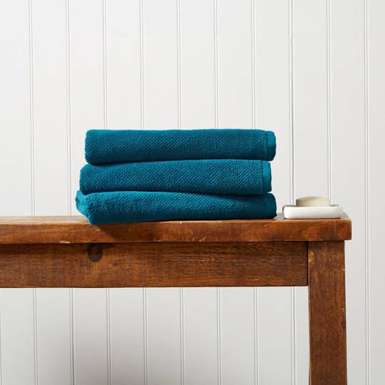 Seneca - Christy Brixton Towels, Hand Towels, Bath Mats - Peacock