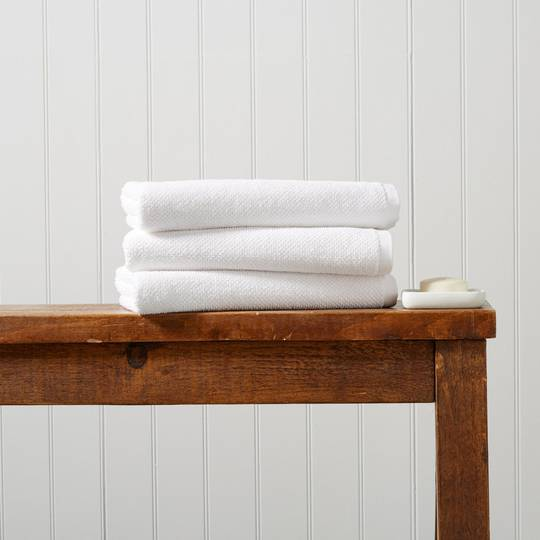 Seneca - Christy Brixton Towels, Hand Towels, Bath Mats - White