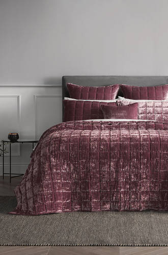 Sheridan Canfield Rosewood Bedspread & Cushions