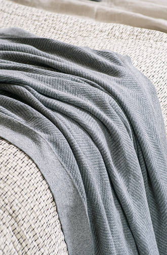 Bianca Lorenne Cheval Grey Knitted Throw