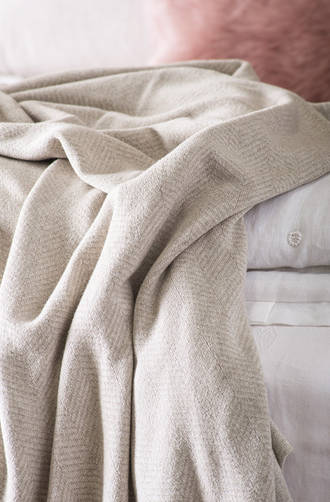 Bianca Lorenne Cheval Oatmeal Knitted Throw