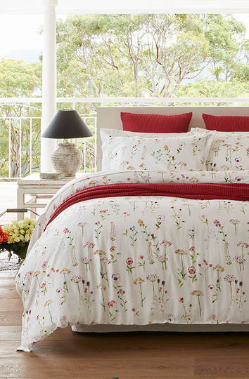 Baksana - Country Garden King Duvet Cover Set - ON SALE