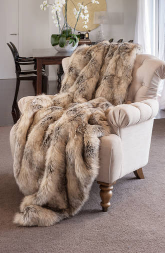 Heirloom Exotic Faux Fur Throw/Cushion - Egyptian Jackel