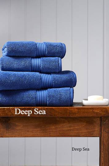 Christy Supreme Hygro Towels, Hand Towels & Face Cloths - Deep Sea