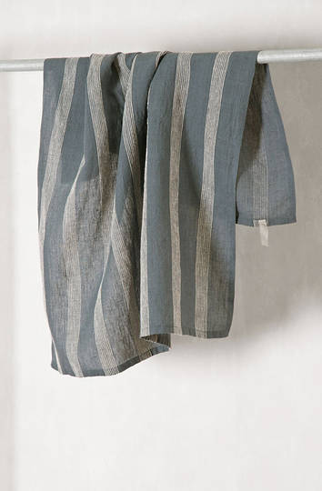 Bianca Lorenne - 100% Linen Denim Stripe Tea Towel