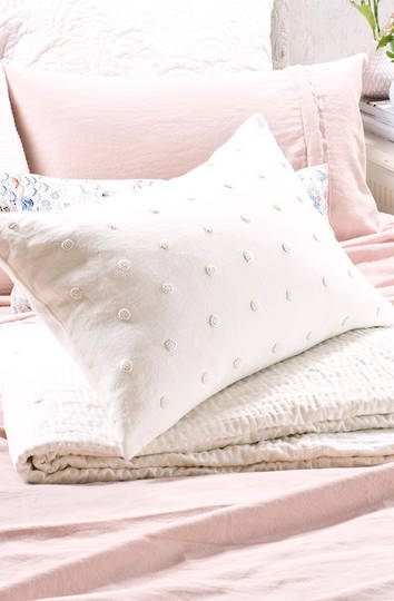 Bianca Lorenne - Etoile Ivory Linen Comforter and Coverlet