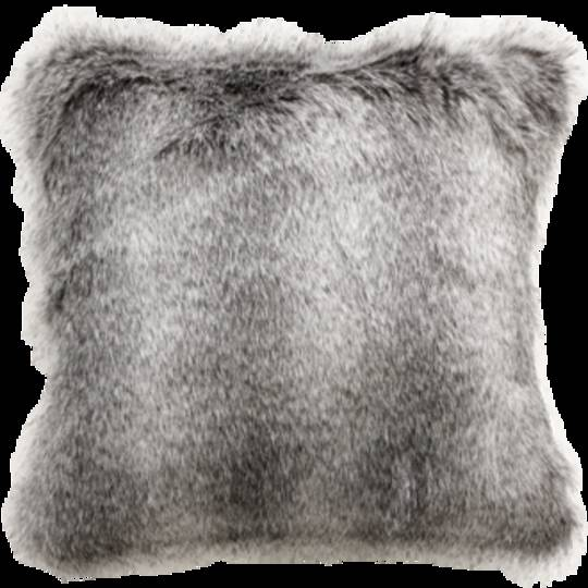 Heirloom Exotic Faux Fur -  Cushion / Throw  -  Grey Wolf