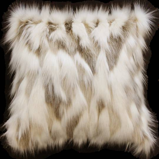 Heirloom Exotic Faux Fur - Cushion - Snowshoe Hare