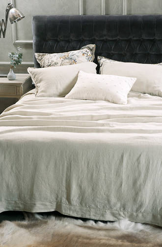 Bianca Lorenne Fabia Linen Bedspread / Pillowcases Sold Separately