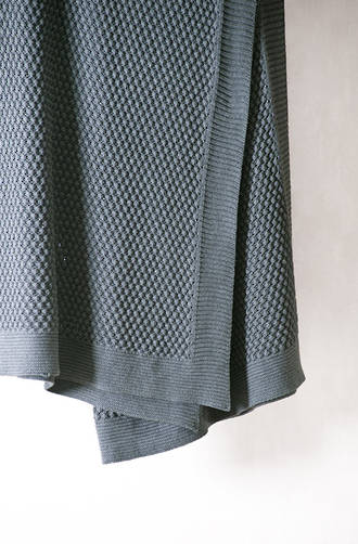 Bianca Lorenne Filato Charcoal Knitted Throw