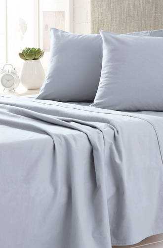 Sheridan Plain Dye Chloe Blue Flannelette Sheet Sets