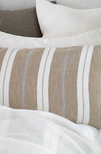 Baksana - Linen Stripe Duvet Cover Set