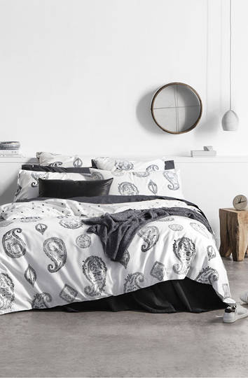 Sheridan - Kingscliff Carbon Duvet Cover Set / Eurocase sold separately
