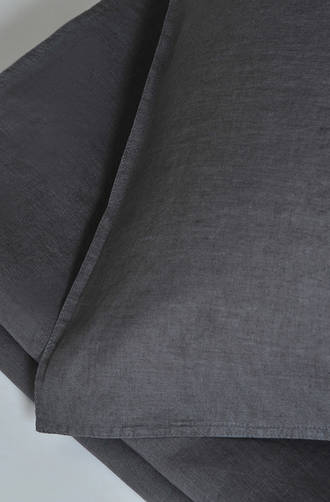 MM Linen - Laundered Linen Charcoal Duvet Cover Set / Extra Pillowcase & Euro Sets Sold Separately