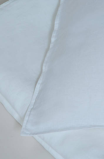 MM Linen - Laundered Linen White Duvet Cover Set / Extra Pillowcase & Euro Set Sold Separately