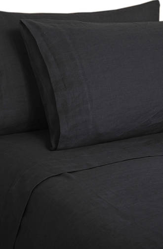 MM Linen Laundered Linen Charcoal Sheet Set/Pillowcases