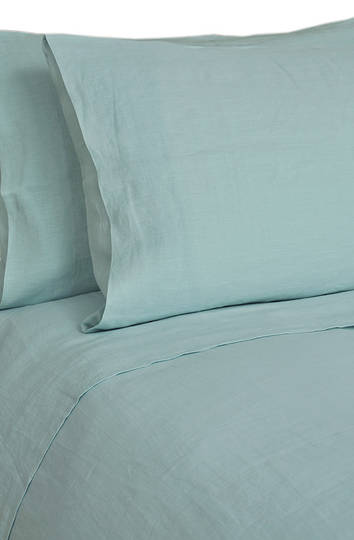MM Linen - Laundered Linen Duckegg Sheet Set