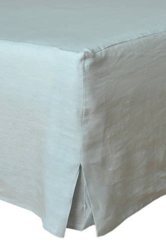 MM Linen Laundered Linen  Duckegg  Bed Skirt/Valance