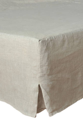 MM Linen Natural Laundered Linen Valance
