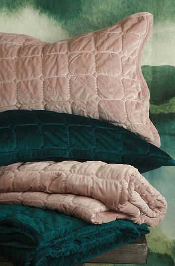 MM Linen - Meeka Quilted Rosewood Comforter Set/Eurocase sold separately
