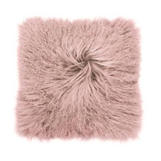 Bambury - Mongolian Lambswool Cushion - Rosewater