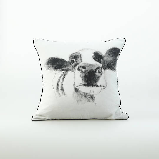 MM Linen - Moo Cushion