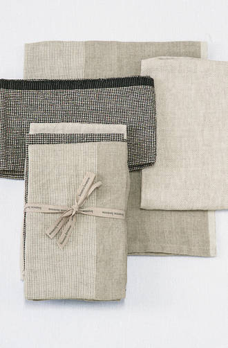 Bianca Lorenne Natural Linen Tea Towels