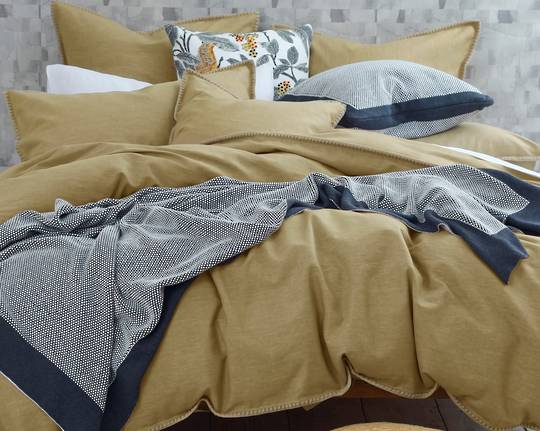 MM Linen - Stitch Duvet Set - Orche