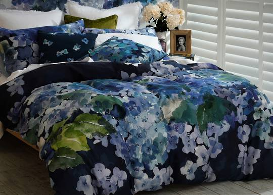 MM Linen - Hydrangea Reversible Duvet Set