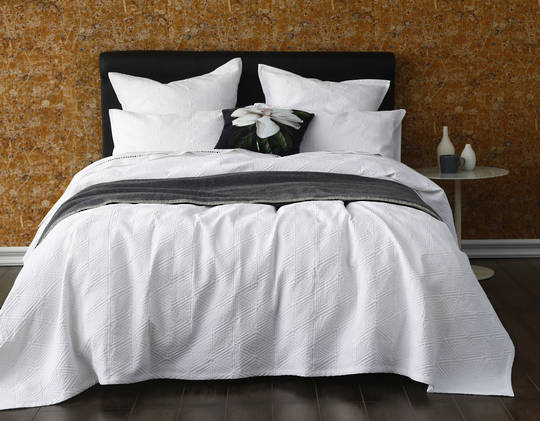 MM Linen - Taika Bedspread Set - White