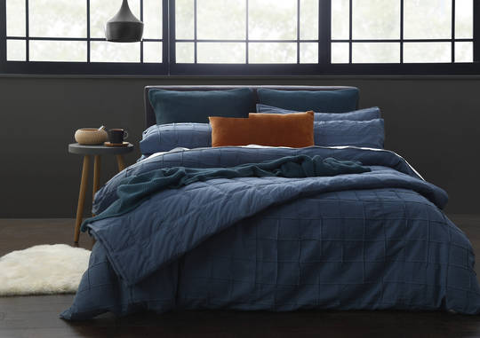 MM Linen - Elk Duvet Set - Aegean Blue