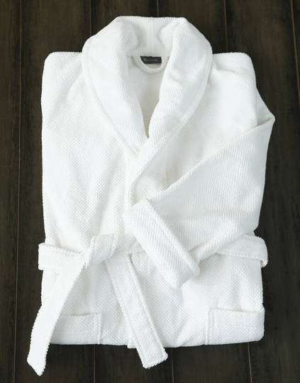 MM Linen - Finn Bathrobe - White