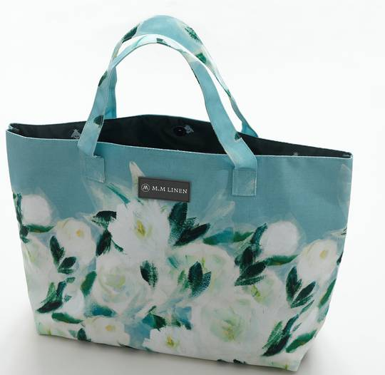 MM Linen - Tote Bag and Make Up Pouch -  Camillia