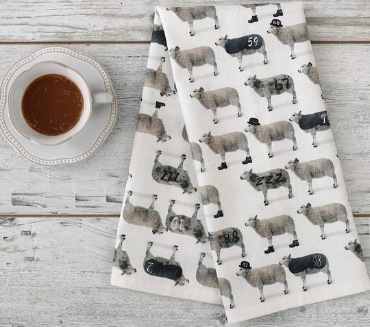 MM Linen - New Season Tea Towels - Counting Sheep